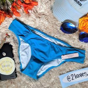 NWT Victorias Secret Blue Bikini Bottom Size XS